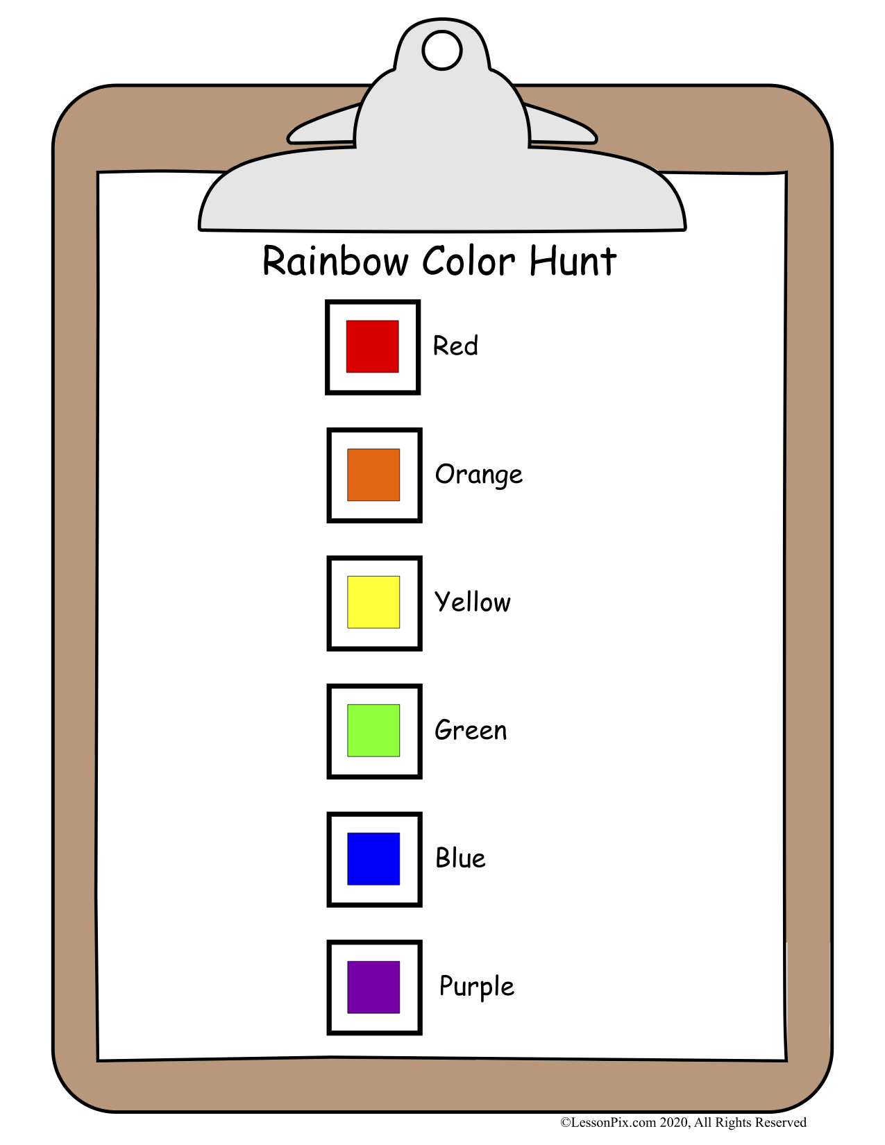 Rainbow Color Hunt